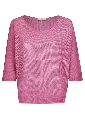 Oversize трикотажный пуловер с широкий...