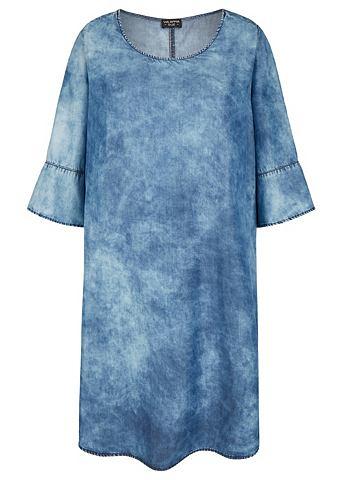 Современный платье в имитация джинсово...
