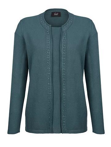 Пуловер в 2in 1 имитация