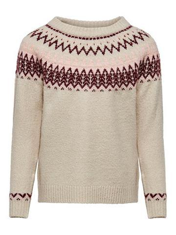 Узор трикотажный пуловер