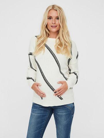 Вязаный пуловер для беременных