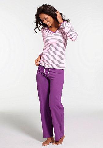 В полоску пижама с легко расширяющуюся...