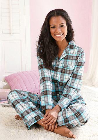 Пижама с пуговицы & воротник