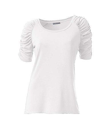 Блуза с круглым вырезом с с драпировко...
