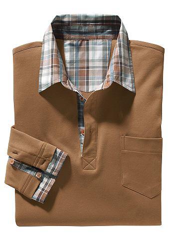 Кофта-поло с пуговицы и карман
