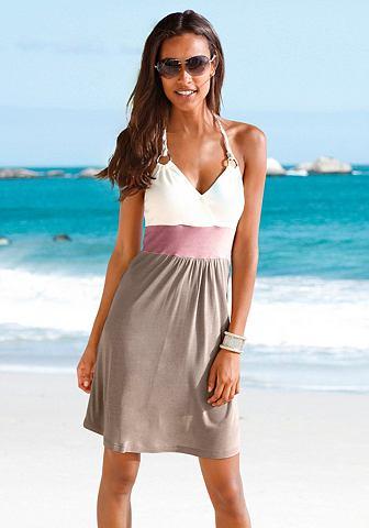 Платье пляжное с Color-Blocking