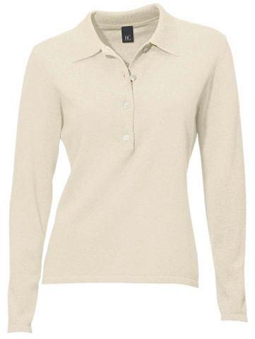 Пуловер поло из Feinstrick