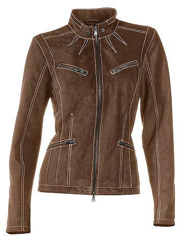 heine CASUAL Куртка кожаная с Kontrast-Stitching