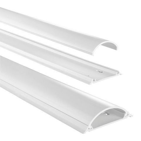 PVC-Kabelkanal halbrund 100/7/21 cm We...