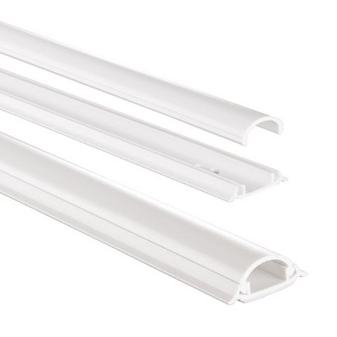 PVC-Kabelkanal halbrund 100/35/09 cm W...