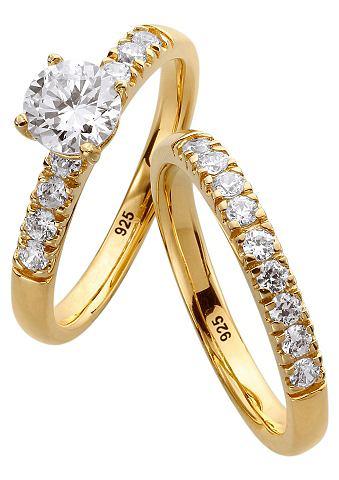 Комплект: кольцо с Zirkonia