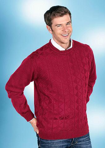Пуловер с классические круглым вырезом...