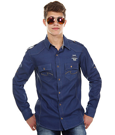 CATCH Jeanshemd slim fit - blau - S0
