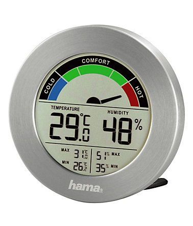 Hama Thermometer Hygrometer digital TH-300 - Silber