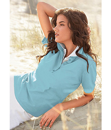 Collection L. Poloshirt in wunderschönen Sommerfarben - aqua - 3636