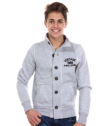 R-NEAL Sweatjacke regular fit - grau - L0