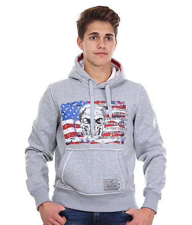 R-NEAL Kapuzensweater regular fit - grau - L0
