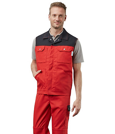 Pionier ® workwear Weste Top Comfort Stretch - rot/schwarz - L0
