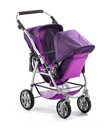 CHIC2000, Puppen-Tandem-Buggy, pflaume »VARIO« - lila