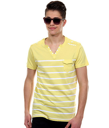 MCL Henley T-Shirt regular fit - gelb - L0