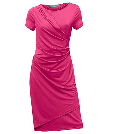 ASHLEY BROOKE by Heine Jerseykleid in Wickeloptik - pink - 3434
