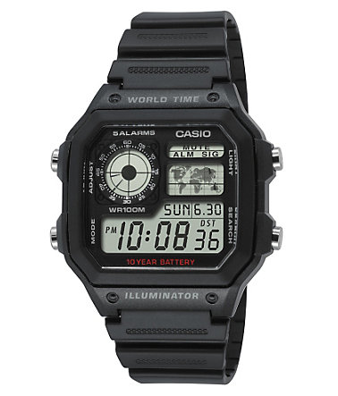 Casio Collection Chronograph »AE-1200WH-1AVEF« - schwarz