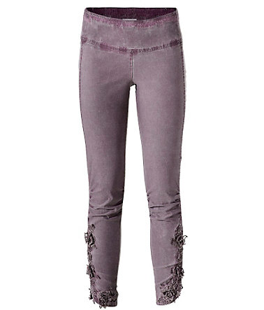 LINEA TESINI by Heine Leggings aus Webware oil dyed - mauve - 3434