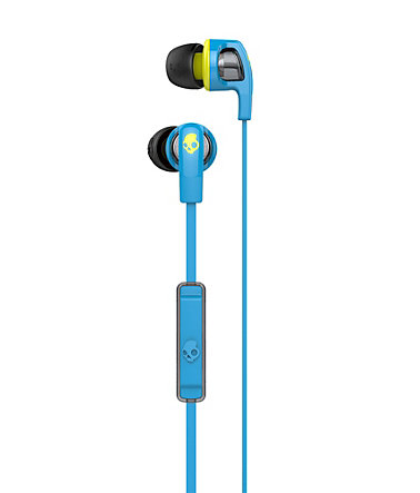 Skullcandy Headset »SMOKIN BUD 2 IN-EAR W/MIC 1 HOT BLUE/HOT LIME/HOT« - blau
