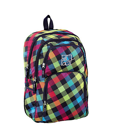 All Out Rucksack Kilkenny, Rainbow Check »Außenmaße 31 x 43 x 13 cm« - Coloured