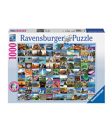 Ravensburger Puzzle 1000 Teile, »99 Beautiful Places on Earth« -