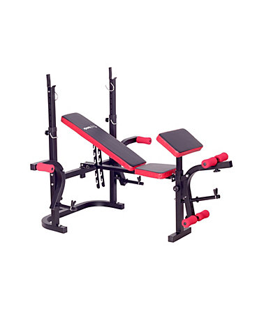 Hantelbank, »Weight Bench SP-WB-003-B«, Sportplus - Schwarz/Rot