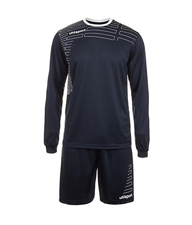 UHLSPORT Match Team Kit Longsleeve Kinder - marine/weiß - S-1640
