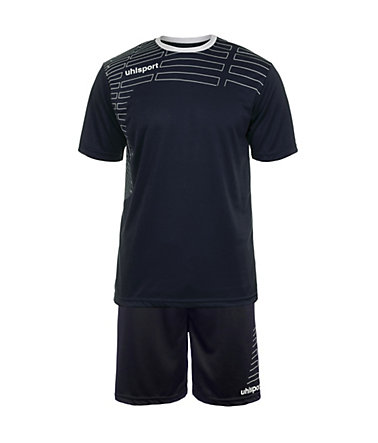 UHLSPORT Match Team Kit Shortsleeve Kinder - marine/weiß - S-1640