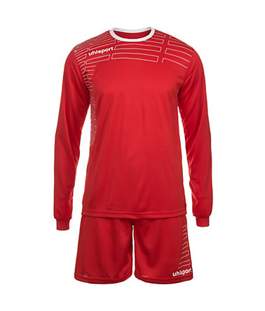 UHLSPORT Match Team Kit Longsleeve Herren - rot/weiß - L-520