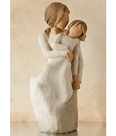 Figur, »Mutter, Tochter  - Mother, Daughter«, Willow Tree -