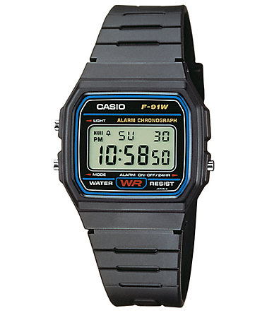 Casio Collection Chronograph »F-91W-1YEF« - schwarz