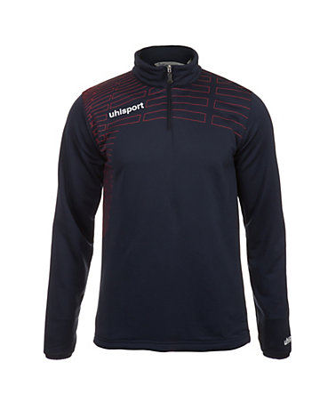 UHLSPORT Match 1/4 Zip Top Kinder - marine/rot - S-1640