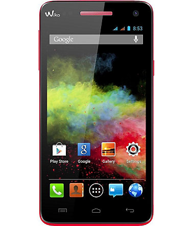 Wiko Rainbow Smartphone, 12,7 cm (5 Zoll) Display, Android 4.4, 8,0 Megapixel - rot