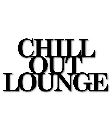 Wandobjekt, Home affaire, »Chill out Lounge«, Maße (B/H): 60/30 cm - schwarz
