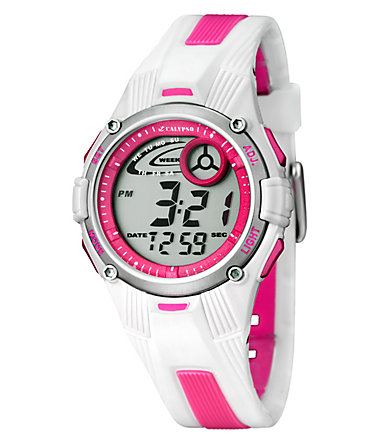 CALYPSO WATCHES Chronograph »K5558/2« - weiß-rosa