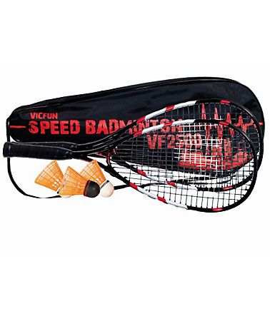Set: Speedbadminton-Set komplett besaitet, VICFUN, »VF-2500« -
