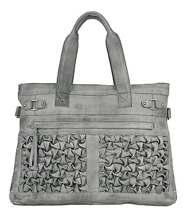 by Burin Leder Damen Shopper - grau