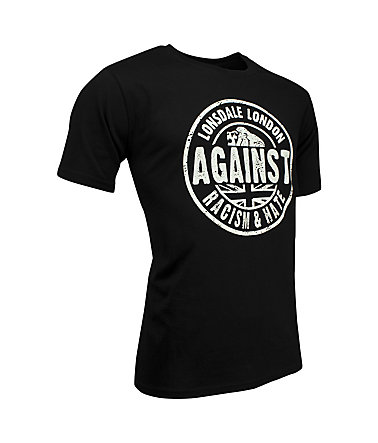 Lonsdale T-Shirt »AGAINST RACISM« - Black - L0