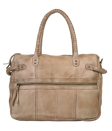 by Burin Leder Damen Shopper - cappuccino