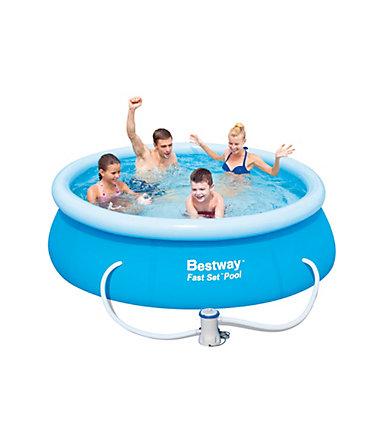 Pool, 244 x 66 cm, »Fast Set Familienpool 244«, Bestway - blau