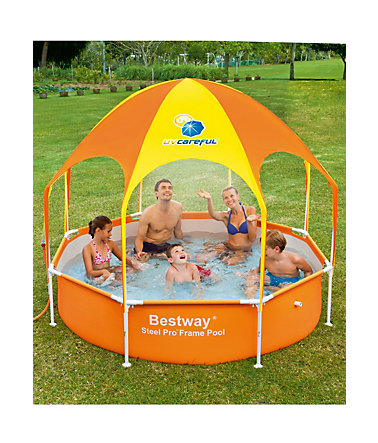 Kinderpool, 244x51 cm, »Splash in Shade«, Bestway - orange