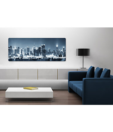 Home affaire, Glasbild, »New York at Night Panorama«, 100/40 cm - blau - 100/40cm100