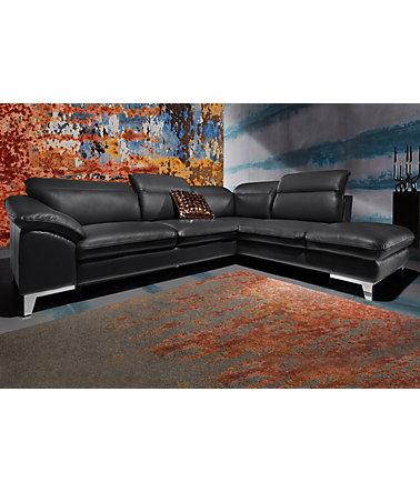cotta polsterecke wahlweise mit bettfunktion leder ecksofas. Black Bedroom Furniture Sets. Home Design Ideas