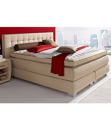 Boxspringbett, Atlantic Home Collection - braun - ohneAufbauservice - 140/200cm