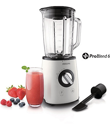 Philips Standmixer HR2095/30 Avance Collection, 700 Watt - weiß